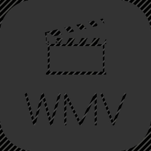 clip, movie, video, wmv icon