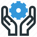 cogwheels, gear, service, support icon