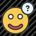ask, emoji, question