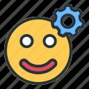 setting, emoji, gear, settings, options