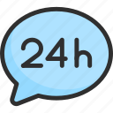 24h, bubble, chat, faq, help, support