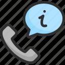 call, faq, help, info, phone, support, tube icon