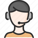 assistant, faq, headset, help, man, support icon
