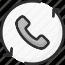 faq, help, phone, refresh, support, tube, update icon