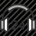 24h, faq, headset, help, online, support