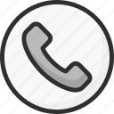 circle, faq, help, phone, support, tube icon