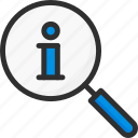 faq, help, info, information, search, support icon