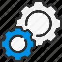 cogwheel, desk, faq, help, options, settings, support icon