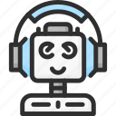 assistant, desk, faq, help, robot, support icon