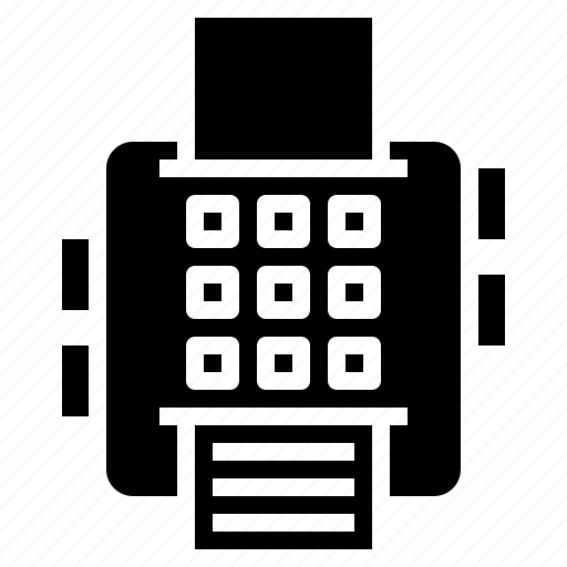 call, fax, material, office, phone, technology, telephone icon