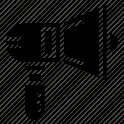 announcement, announcer, bull, horn, loud, speaker, tools icon