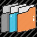 data storage, file storage, folder, interface, office material, storage icon