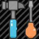 edit tools, improvement, maintenance, repair, screwdriver, settings, tools