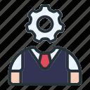 settings, avatar, worker, man, user, profile