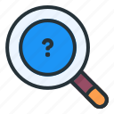 search, question, find, magnifier, zoom