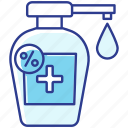alcohol based disinfectant, antibacterial sanitizer, disinfectant icon, soap dispenser icon