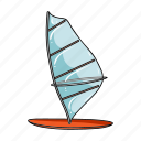 attribute, beach, board, recreation, sail, sport, surfing icon