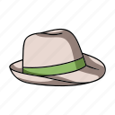 attribute, beach, hat, headdress, recreation, sport, surfing icon