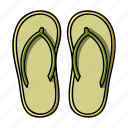 attribute, beach, recreation, shoes, slippers, sport, surfing icon