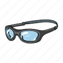 attribute, beach, recreation, sport, surfing, swimming glasses icon