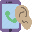 call, phone, security, spy, surveillance icon
