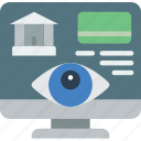 account, bank, security, spy, surveillance icon