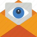 mail, security, spy, surveillance icon