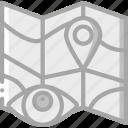 location, security, spy, surveillance icon