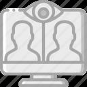 call, security, spy, surveillance, video icon