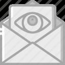 mail, security, spy, surveillance icon