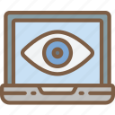 laptop, security, surveillance icon