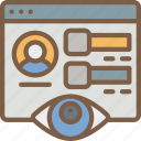 profile, security, spy, surveillance icon
