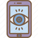 mobile, security, surveillance icon