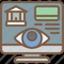 account, bank, security, spy, surveillance icon