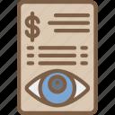 financial, security, spy, surveillance icon
