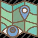 location, security, surveillance icon