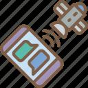 message, satellite, security, spy, surveillance icon