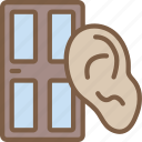 home, listening, security, spy, surveillance icon