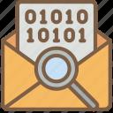 analysis, mail, security, spy, surveillance icon