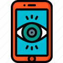 mobile, security, spy, surveillance icon