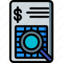 analysis, financial, security, spy, surveillance icon