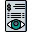 financial, security, spy, surveillance icon