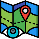 location, security, spy, surveillance icon