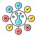 chemical, control, experiment, quality, risk, survey, test icon
