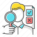 expert, human, interviewer, opinion, poll, public, survey icon