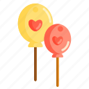 balloon, hearts, valentines day