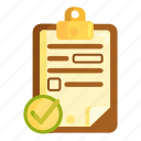 completed, finished, questionnaire, survey icon