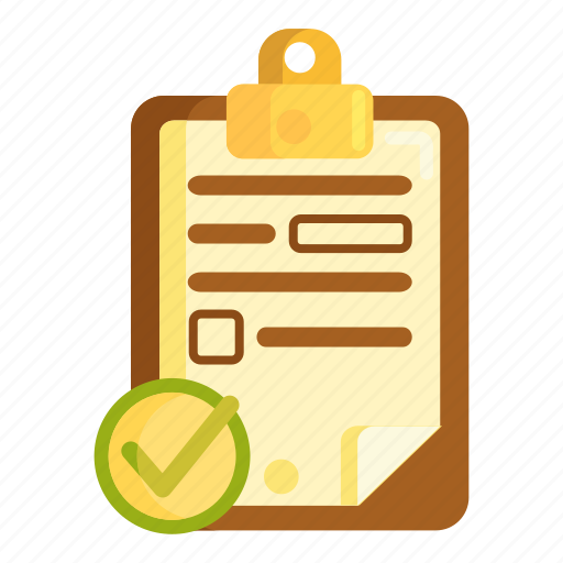 Completed, finished, questionnaire, survey icon - Download on Iconfinder