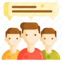 comment, feedback, group, rating, review, testimonial
