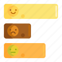 customer feedback, customer satisfaction, graph, happiness, horizontal bar graph